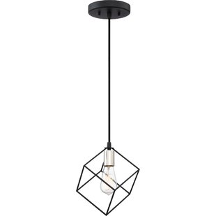 Theodorus 1-Light Geometric Pendant by Wrought Studio