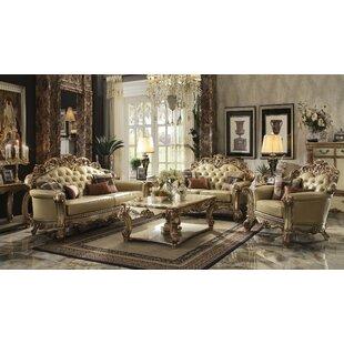 Astoria Grand Mccarroll 3 Piece Living Room Set