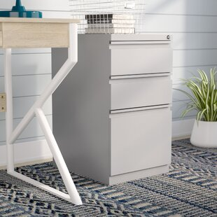 Rebrilliant 3 Drawer Mobile Vertical Filing Cabinet