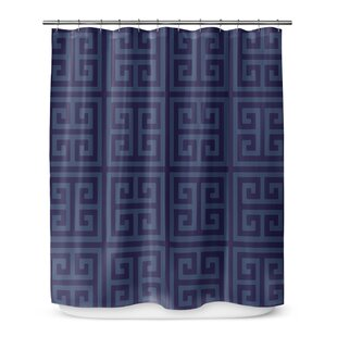 Greek Key Shower Curtain