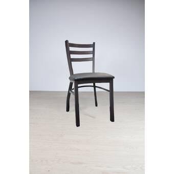 Mercury Row Menke Metal Cross Back Side Chair Reviews Wayfair