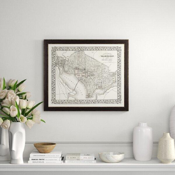 Art Virtuoso City Map Of Washington D C Framed Graphic Art Perigold