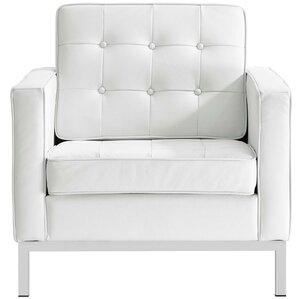 Gayatri Leather Armchair by Orren Ellis