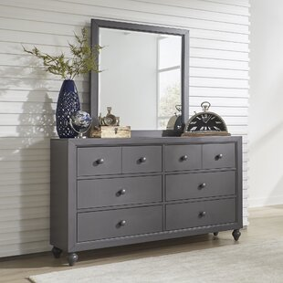 Great choice Coffee 6 Drawer Standard Dresser with Mirror by Three Posts