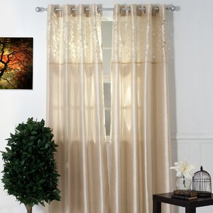 Circles Laser-Cut Geometric Sheer Grommet Single Curtain Panel by Plymouth Home