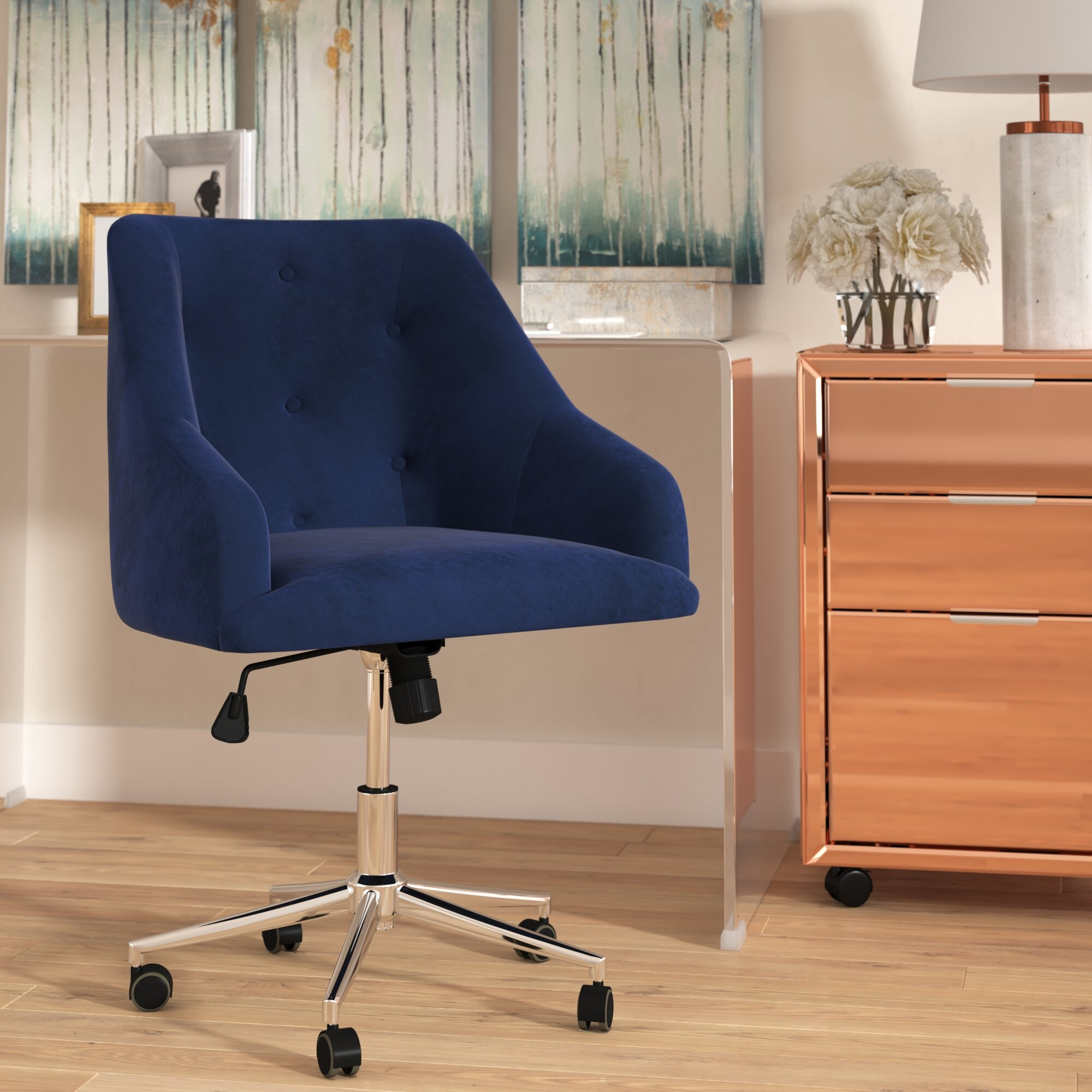 comfortable design tufted l soho swivel desk chair linen safavieh office all super blue