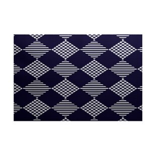 Christmass Blue Indoor/Outdoor Area Rug By The Holiday Aisle