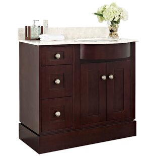Kester Transitional 36 Multi-layer Stain Wood Single Bathroom Vanity Set by Darby Home Co