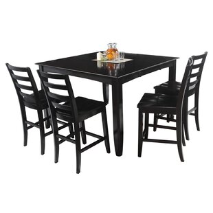 Ryley 7 Piece Counter Height Solid Wood Dining Set