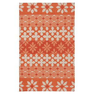 Nicolette Hand-Woven Rust Area Rug By Bay Isle Home