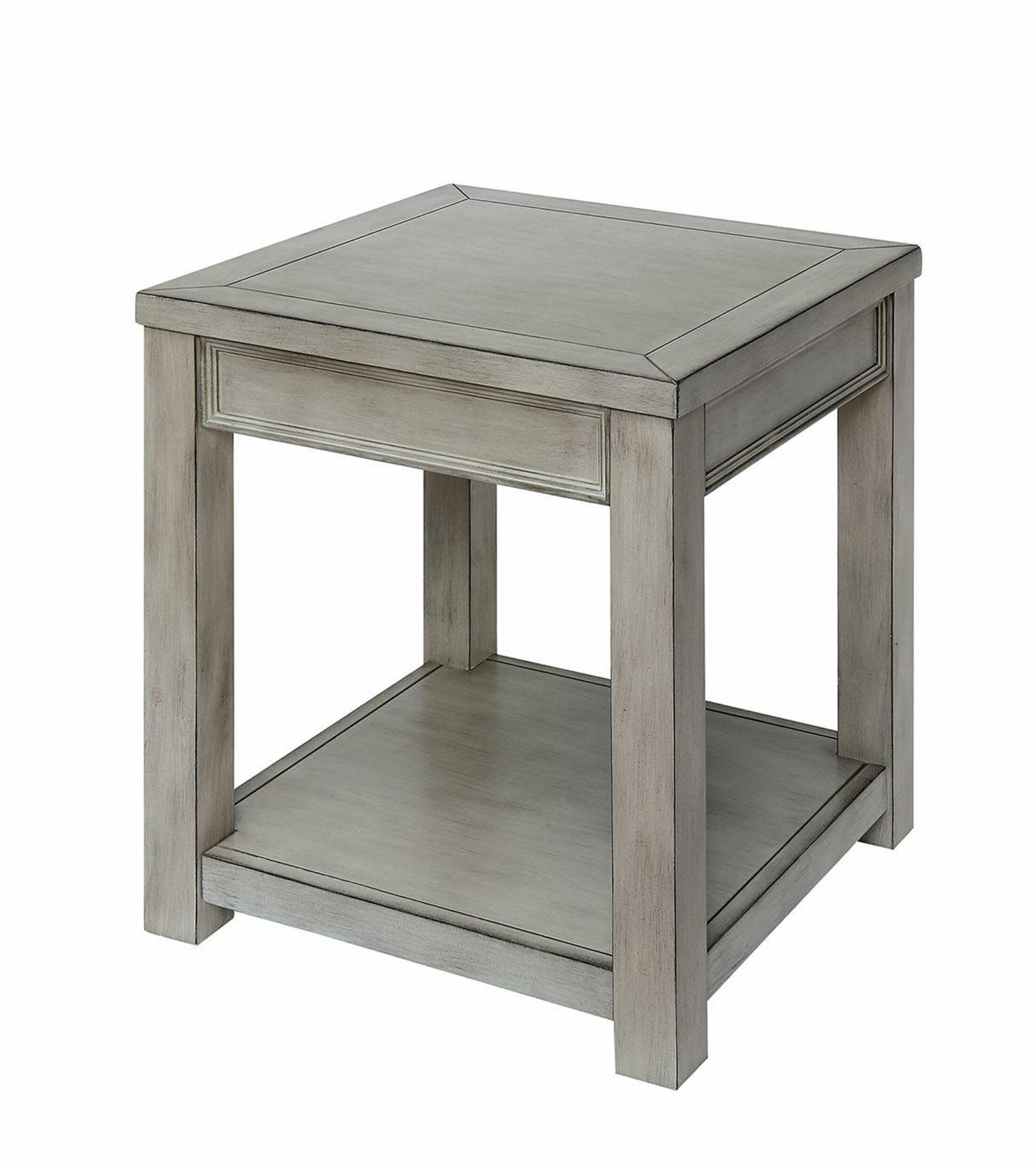 Gracie Oaks Yuliya Solid Wood End Table With Storage Wayfair