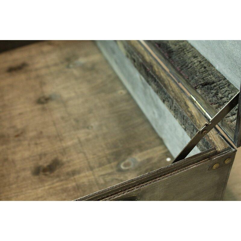 Lorenza Rustic Large Wooden Storage Trunk