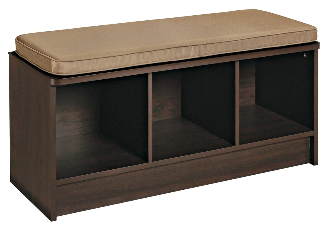 Entry Table With Storage closetmaid cubeicals upholstered storage entryway bench & reviews