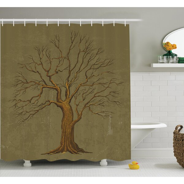 Ambesonne Tree Old Paper Effect Vintage Shower Curtain Set Reviews