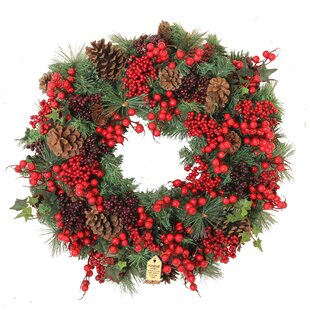 Woodland Berry 60cm Christmas Wreath By The Seasonal Aisle