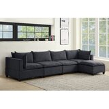 Brás 157 Reversible Corner Sectional with Ottoman by Latitude Run®