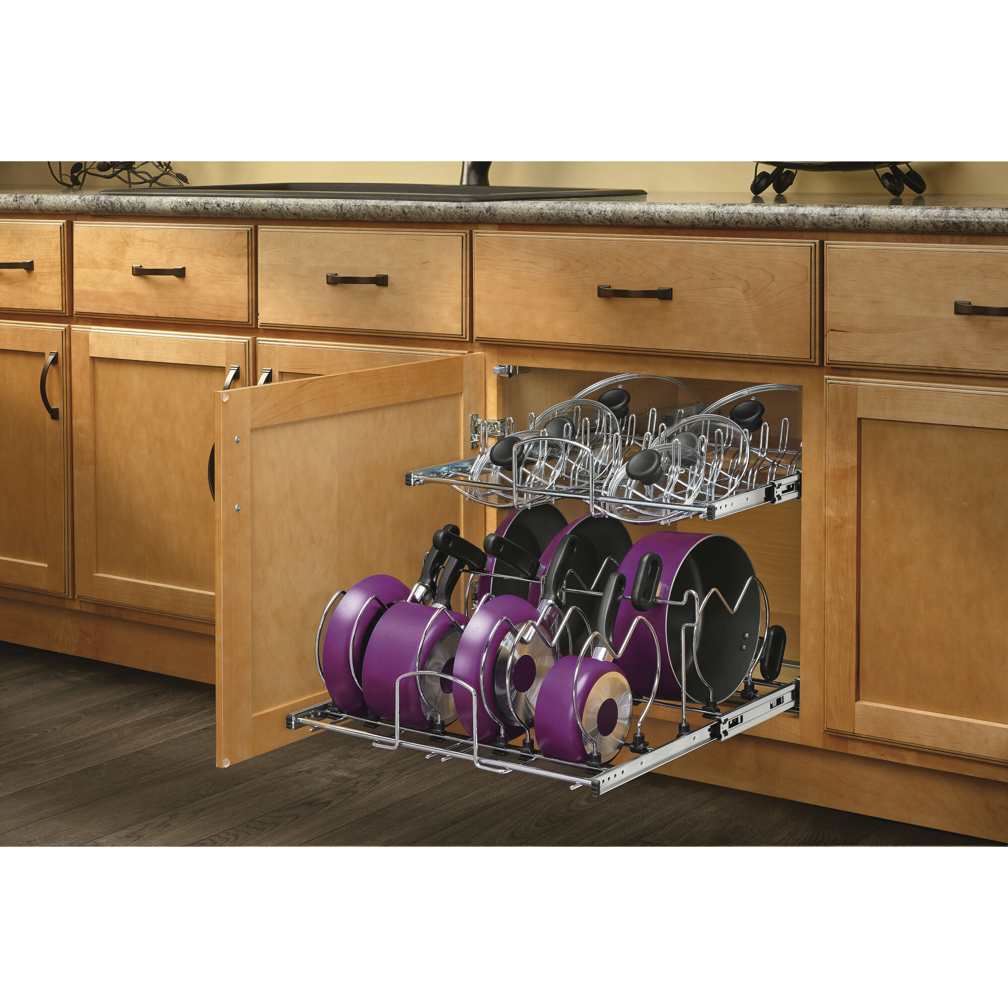 Rev A Shelf 2 Tier Pull Out Kitchenware Divider Reviews Wayfair