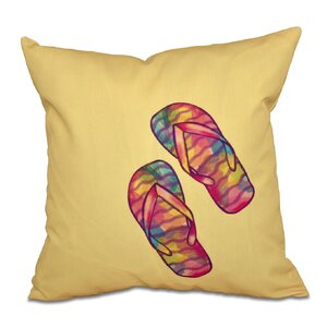 Granata Rainbow Flip Flops Geometric Print Throw Pillow