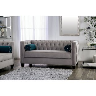 Find for Fannie Tufted Loveseat by House of Hampton Reviews (2019) & Buyer's Guide