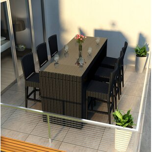 Azariah 7 Piece Sunbrella Bar Height Dining Set