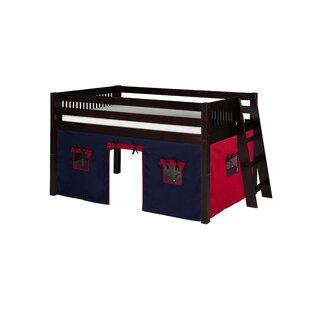 Rabon Twin Solid Wood Low Loft Bed