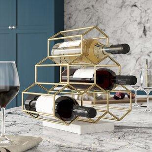 Rieth Contemporary 6 Bottle Tabletop Wine Rack