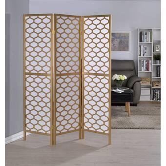 Winston Porter Duponta 70 4 Panel Folding Room Divider Reviews Wayfair