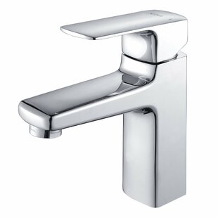 Kraus Virtus Single Hole Bathroom Faucet with Optional Pop Up Drain