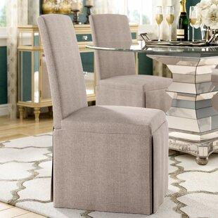 Willa Arlo Interiors Lamb Upholstered Dining Chair (Set of 2)