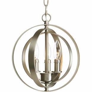 Sudbury 3-Light Globe Pendant by Brayden Studio