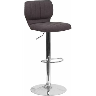 Whelan Low Back Adjustable Height Swivel Bar Stool Orren Ellis