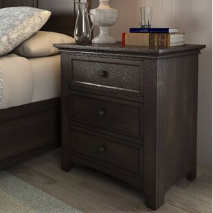 Sefton 3 Drawer Nightstand By Three Posts