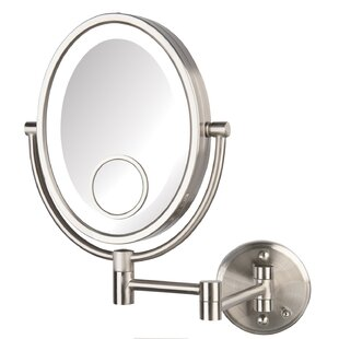 Online Reviews Choquette LED Lighted Direct Wire Makeup/Shaving Mirror By Charlton Home