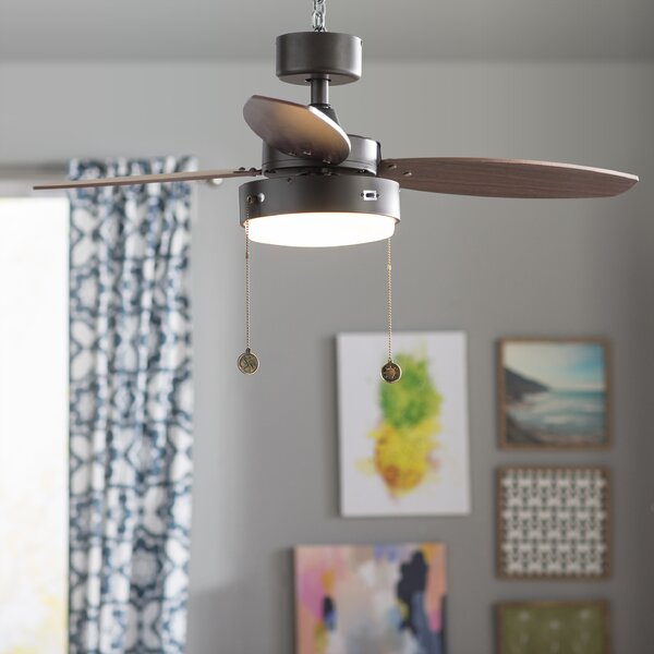 42 corsa 3 reversible blade led ceiling fan reviews birch lane mozeypictures Image collections