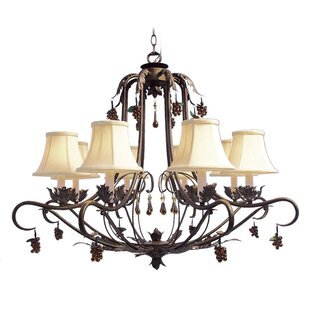 Astoria Grand Mccleary 8-Light Shaded Chandelier