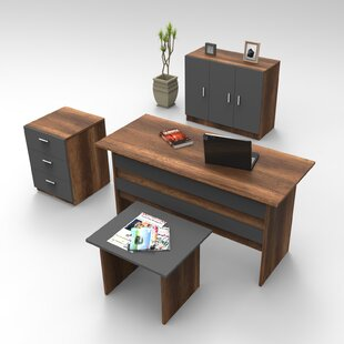 Darnley 4-Piece Standard Desk Office Suite By Ebern Designs