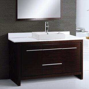 Comparison Alexa 48 Single Bathroom Vanity Set with Mirror ByAdornus