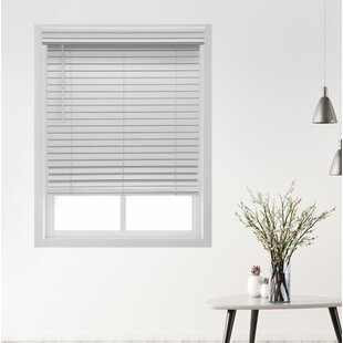 Deluxe Cordless Faux Wood Room Darkening Horizontal/Venetian Blind by Symple Stuff