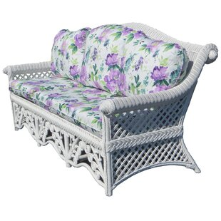 August Grove Mathys Traditional Floral Wicker Sofa