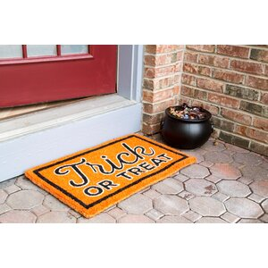 Trick or Treat Hand-Woven Coir Doormat