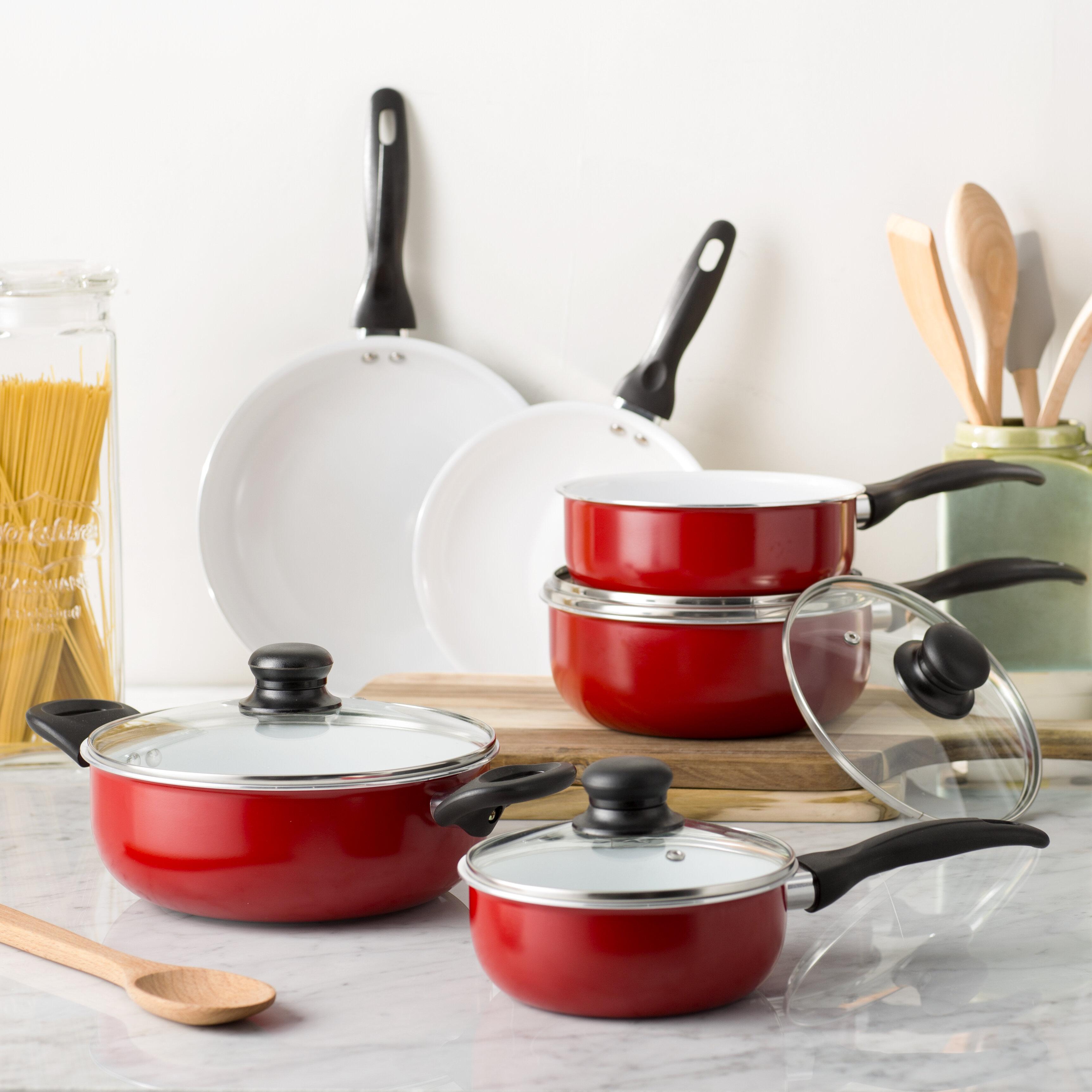 Wayfair Basics™ 4 Piece Ceramic Non Stick Cookware Set