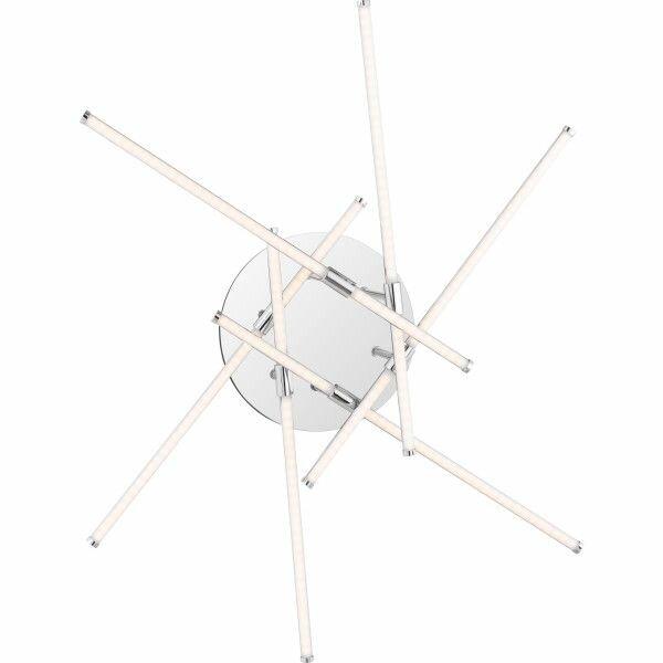 Orren Ellis Coletta 6 Light 22 3 Modern Linear Led Semi Flush Mount Reviews Wayfair