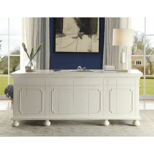 Cosner Solid Wood Executive Desk by Rosecliff Heights