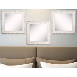 Savings Vinson French Victorian White Wall Mirror (Set of 3) By Ophelia & Co.