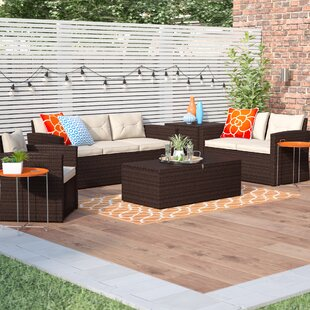 Owen 5 Piece Sofa Seating Group with Cushions By Zipcode Design