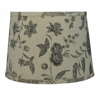 French 14 Linen Drum Lamp Shade
