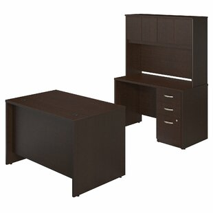Series C Elite 4 Piece Desk Office Suite by Bush Business Furniture