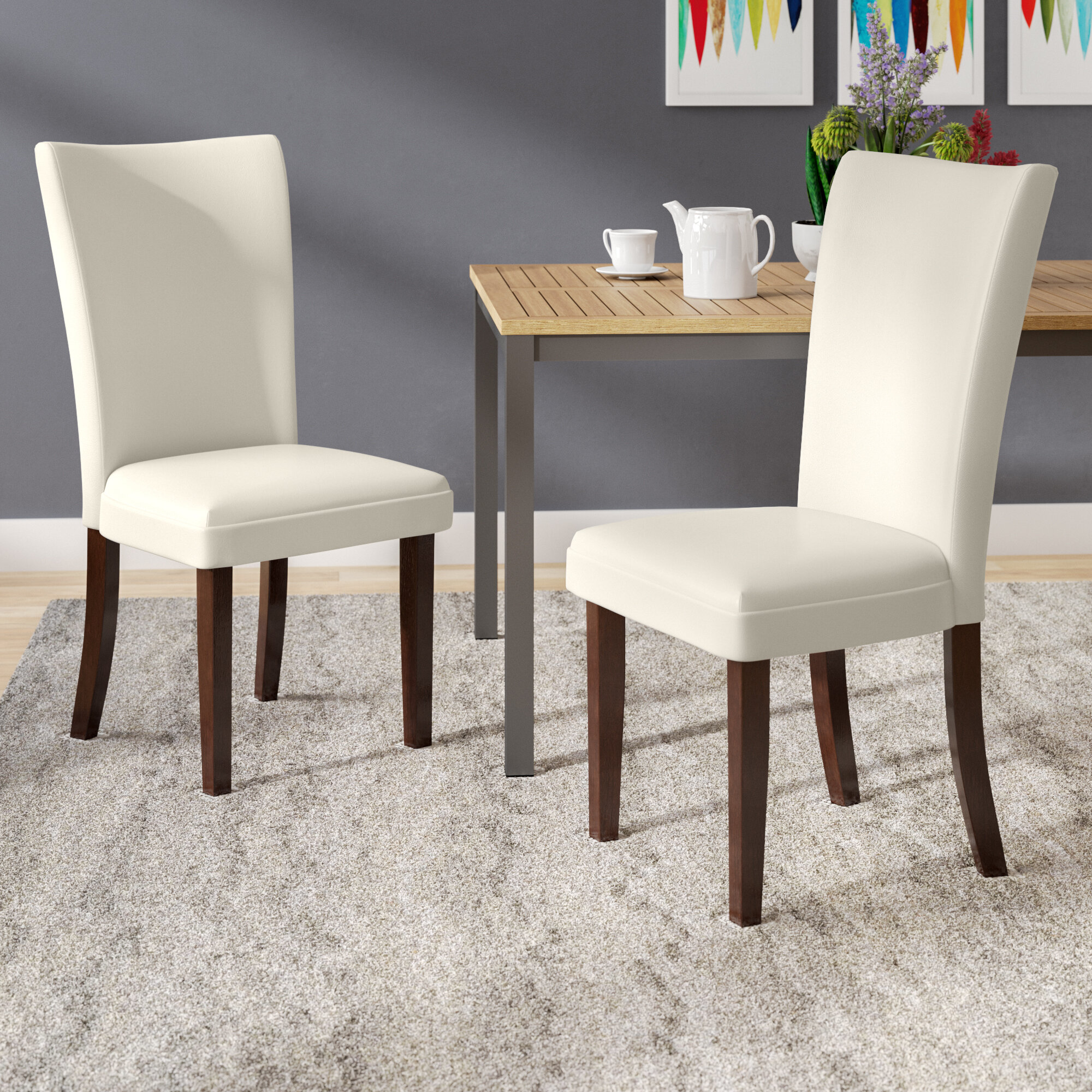 Latitude Run Hargrave Upholstered Side Chair In Off White Reviews Wayfair