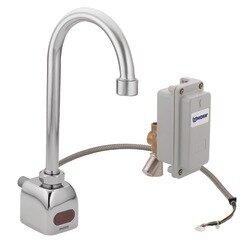 Moen M-Power Sensor-Operated Electronic Centerset Lead Compliant High Arc Bathroom Faucet