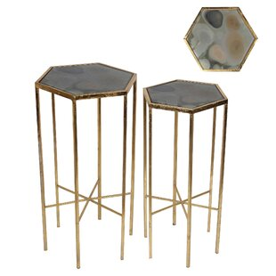 Everly Quinn Lona 2 Piece End Table Set